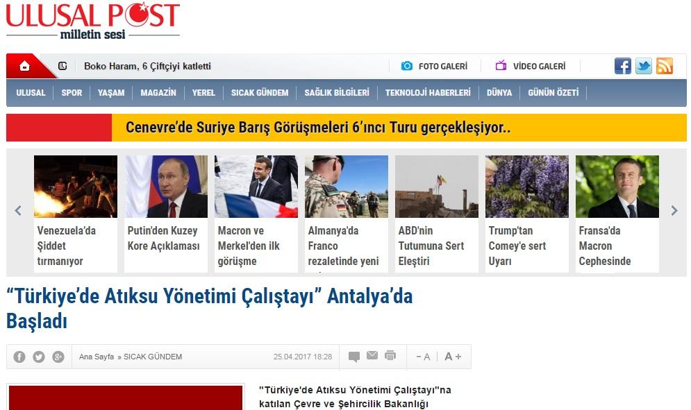 Türkiye'de Atıksu Yönetimi Çalıştayı Antalya'da Başladı