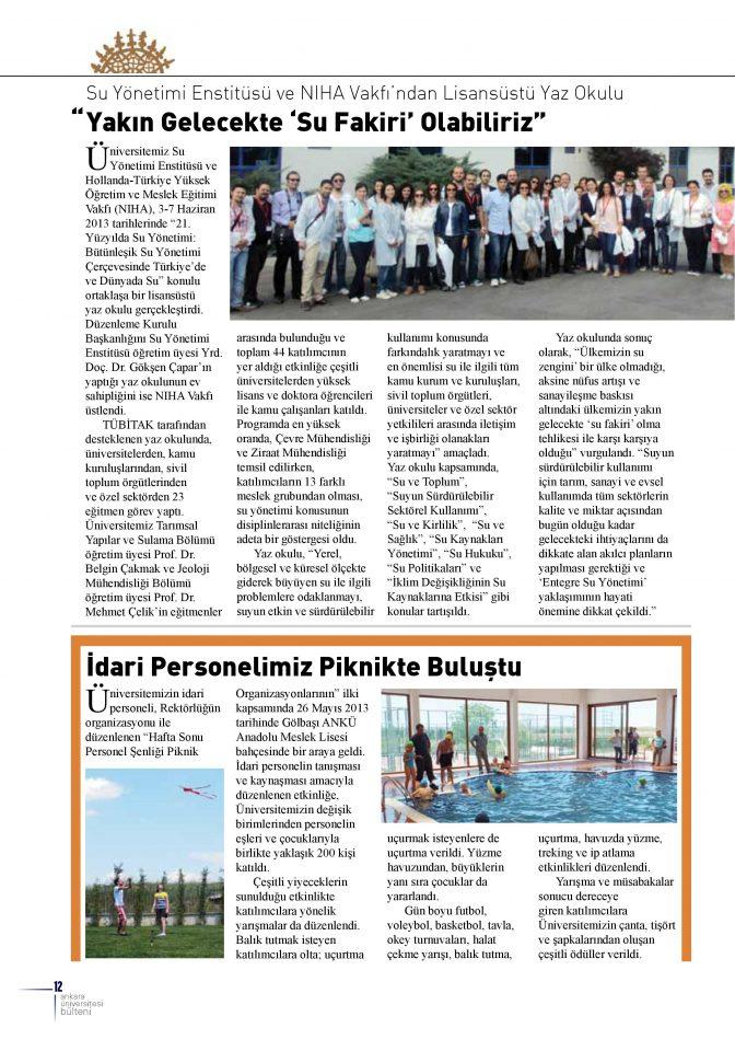 Su Yönetimi Enstitüsü ve NİHA Vakfı'ndan Lisansüstü Yaz Okulu